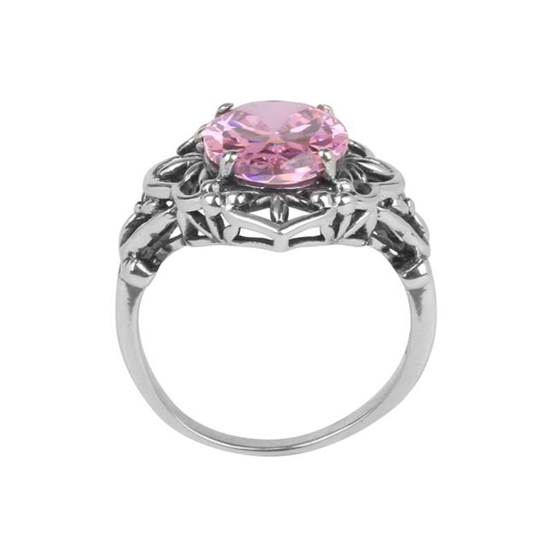 Szjinao โรงงานขายส่งโดยตรงขายเครื่องประดับ Victoria perfect วัฒนธรรมสีชมพู cz zircon 925 เงินผู้หญิงแหวน
