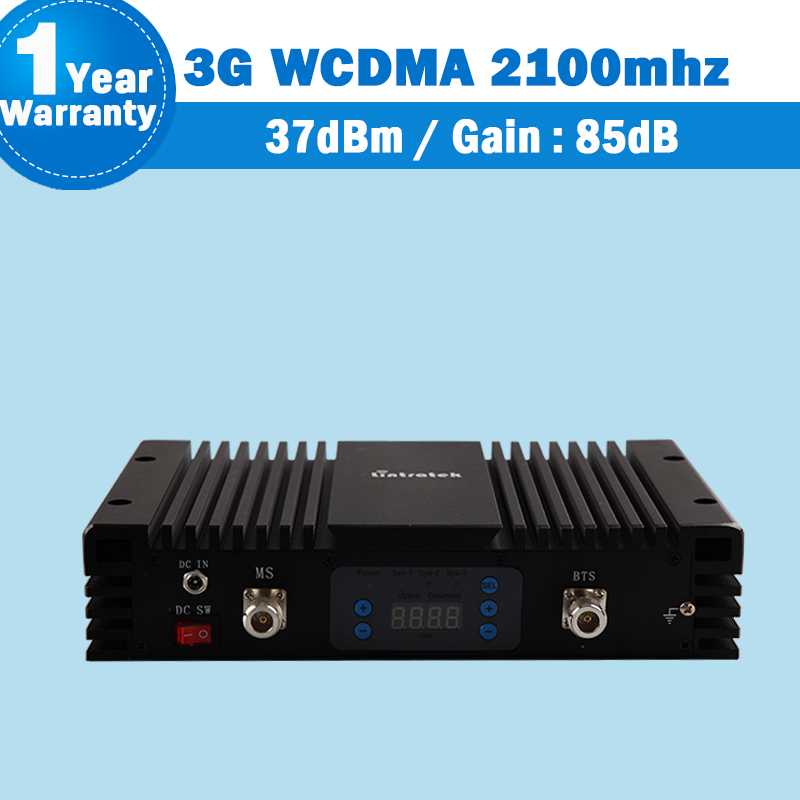 85dB Great Power Amplifier 3G WCDMA 2100 UMTS Mobile Phone Signal Repeater Lcd MGC Cellphone 3G Cellular Booster Amplifier S35
