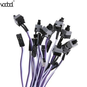 Vodool 10 шт./лот ПК компьютер хост переключение Line 50 см перезапуск Мощность линии axt компьютер шасси Мощность переключение Line Мощность кабель
