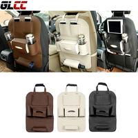 High Grade Car Leather Seat Back Storage Bags Pocket Car Care Interior Accessories Travel Bag Stowing