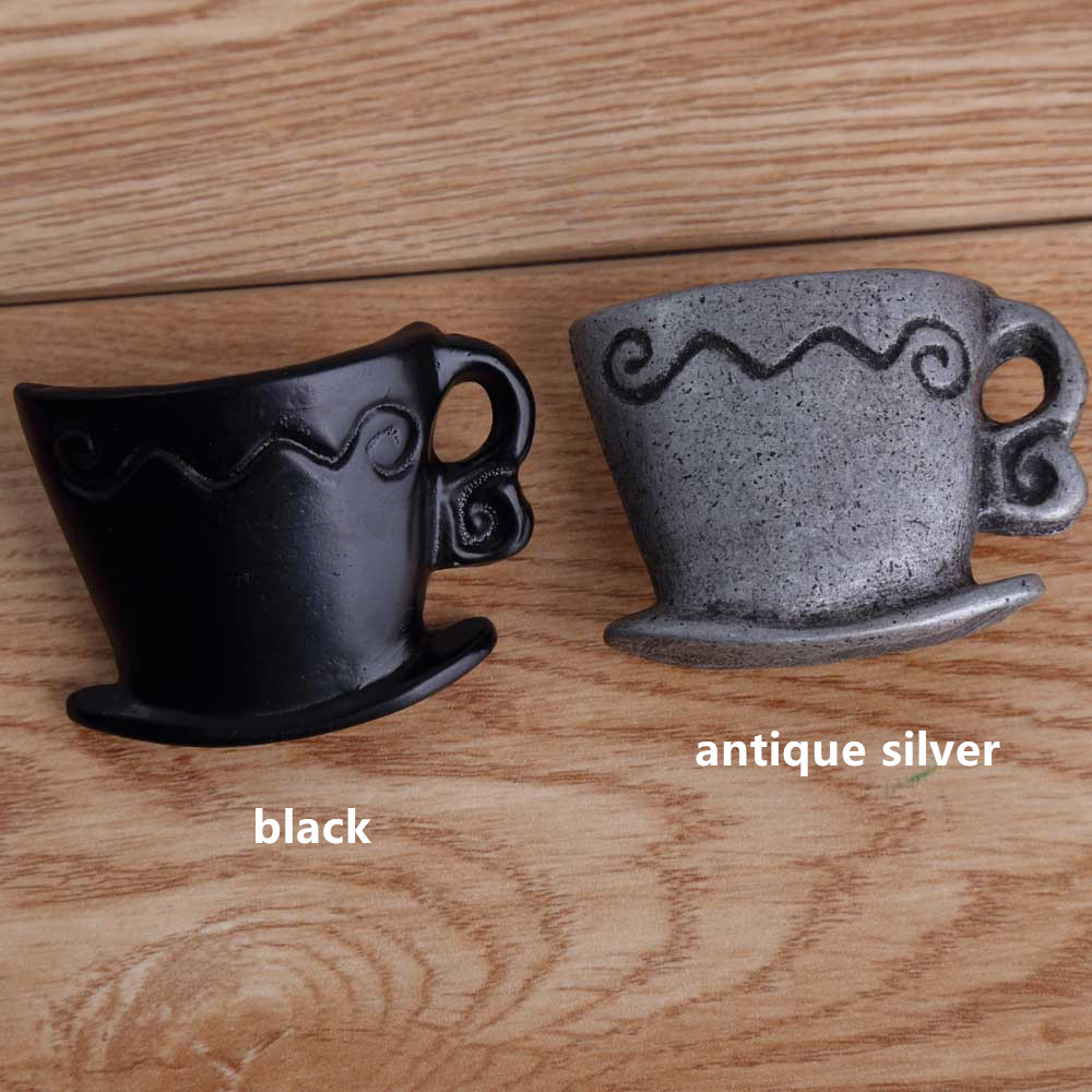 vintage creative coffee cup drawer cabinet knobs pulls retro black dresser door handles knobs antique silver furniture knobsvintage creative coffee cup drawer cabinet knobs pulls retro black dresser door handles knobs antique silver furniture knobs