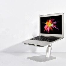 Подставка для ноутбука, подъемный держатель, алюминиевая регулируемая высота/угол наклона, подставка для ноутбука, охлаждающий кронштейн для MacBook Mini Air Pro
