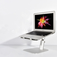 Laptop Stand Lifting Riser Holder Aluminum Height/Angle Adjustable Stand Notebook Cooling Bracket for MacBook Mini Air Pro