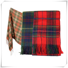 Newly Design Women Winter Infinity Blanket Oversized Shawl Plaid Check Tartan Scarf Wrap June12