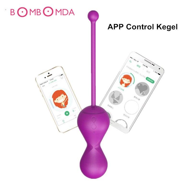G-spot Ben Wa Balles Vibrant Boules de Kegel APP Contrôle Smart Kegel ballon d'exercice Vaginal Formateur Vibrateur Oeufs jouets sexuels pour femme