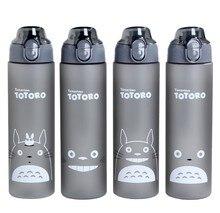 Totoro Cartoon Botella de Agua 500 ml/700 ml Portable Deportes Camping Ciclismo Copa Mi Botella de Agua Tazas de Jugo De Plástico coctelera BPA Libre