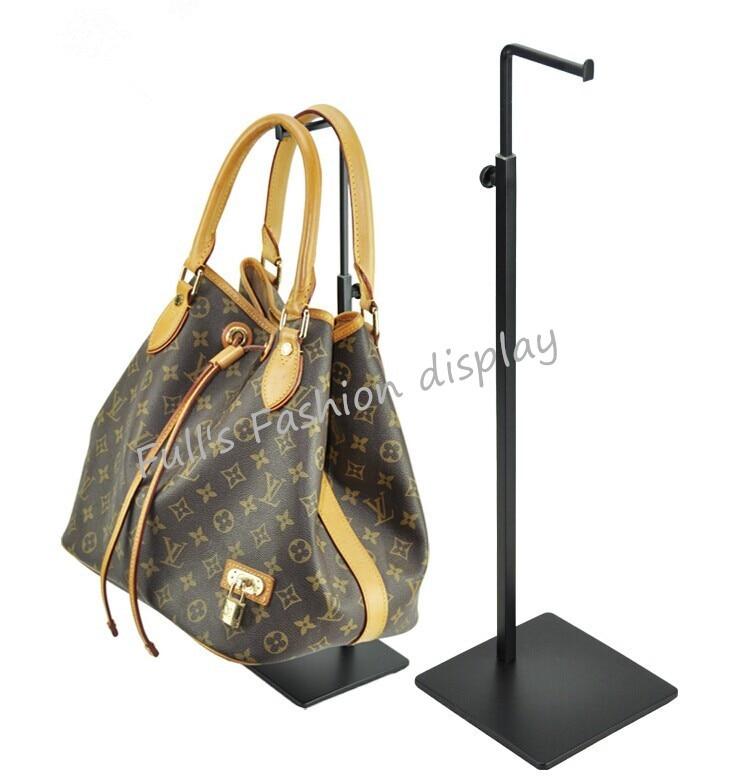 10pcs Black adjustable metal Women's Bag Display Stand Holder desktop stand handbag display rack holder free shipping-in Coat Racks from Furniture