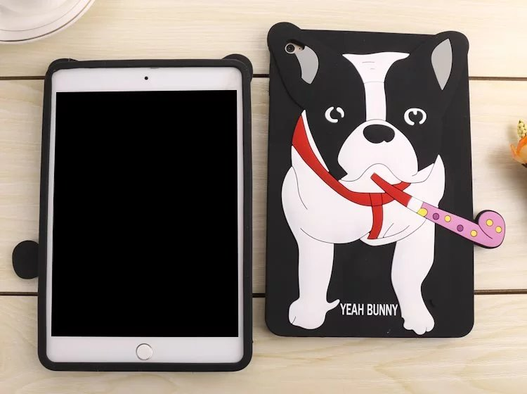 Lovely Cartoon Dog Soft Silicone Case For Apple ipad 2 3 4 ipad 5 air 1 ipad 6 air 2 Case Cover Shell Tablet Back Cover Gift for ipad air 1 2 cute candy color soft silicone tablet case cover for ipad 5 6 mini 2 3 fashion slim lovely protective sleeve