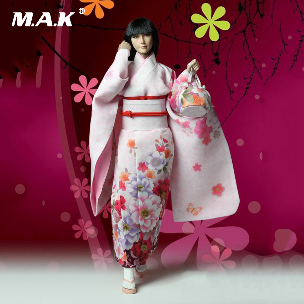 1/6 Scale Kimono Girl Action Figure Head & Body & Clothes Set Collectible Model Toys mnotht 1 6 action figure panzer third