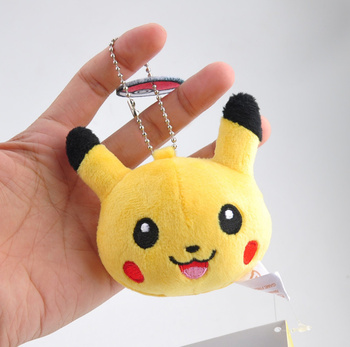 Fashion key chains Pikachu Bulbasaur Charmander Snorlax Squirtle Keyring Pendant For Backpack Bags 1