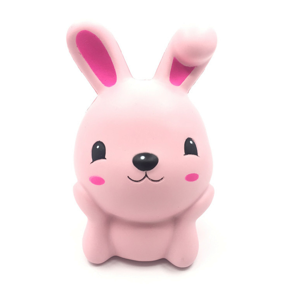 MUQGEW Very Lovely Kid Toys 15cm Squishy Pink Cute Rabbit Squeeze Slow Rising Fun Toy Gift Phone Strap Decor