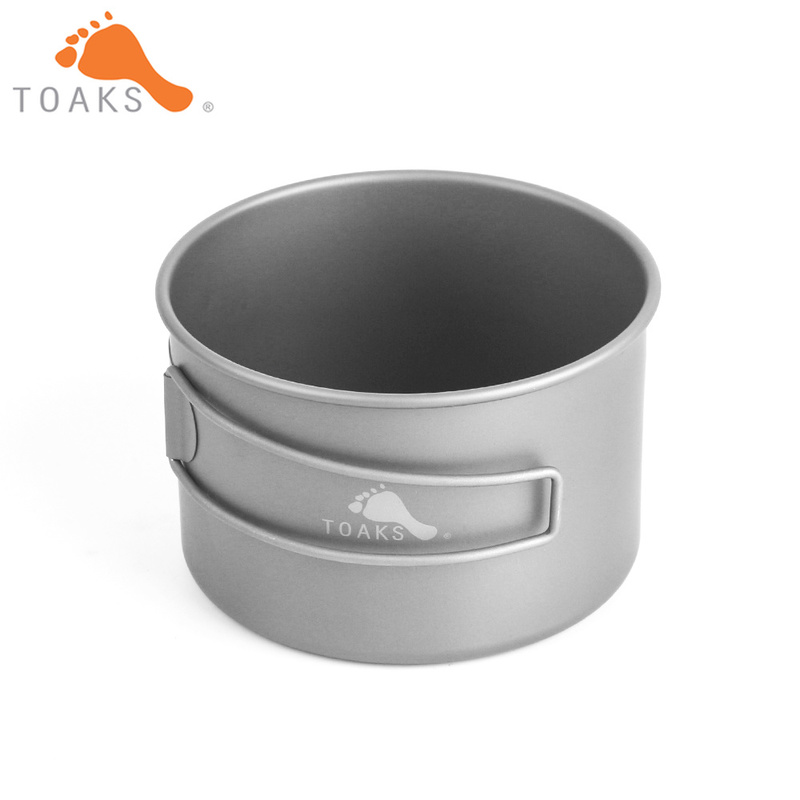 TOAKS BWL 550 Titanium Bowl Outdoor Foldable Handle Camping Cookware 550ml D103MM D118MM