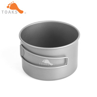 TOAKS BWL 550 Titanium Bowl Outdoor Foldable Handle Camping Cookware 550ml D103MM & D118MM