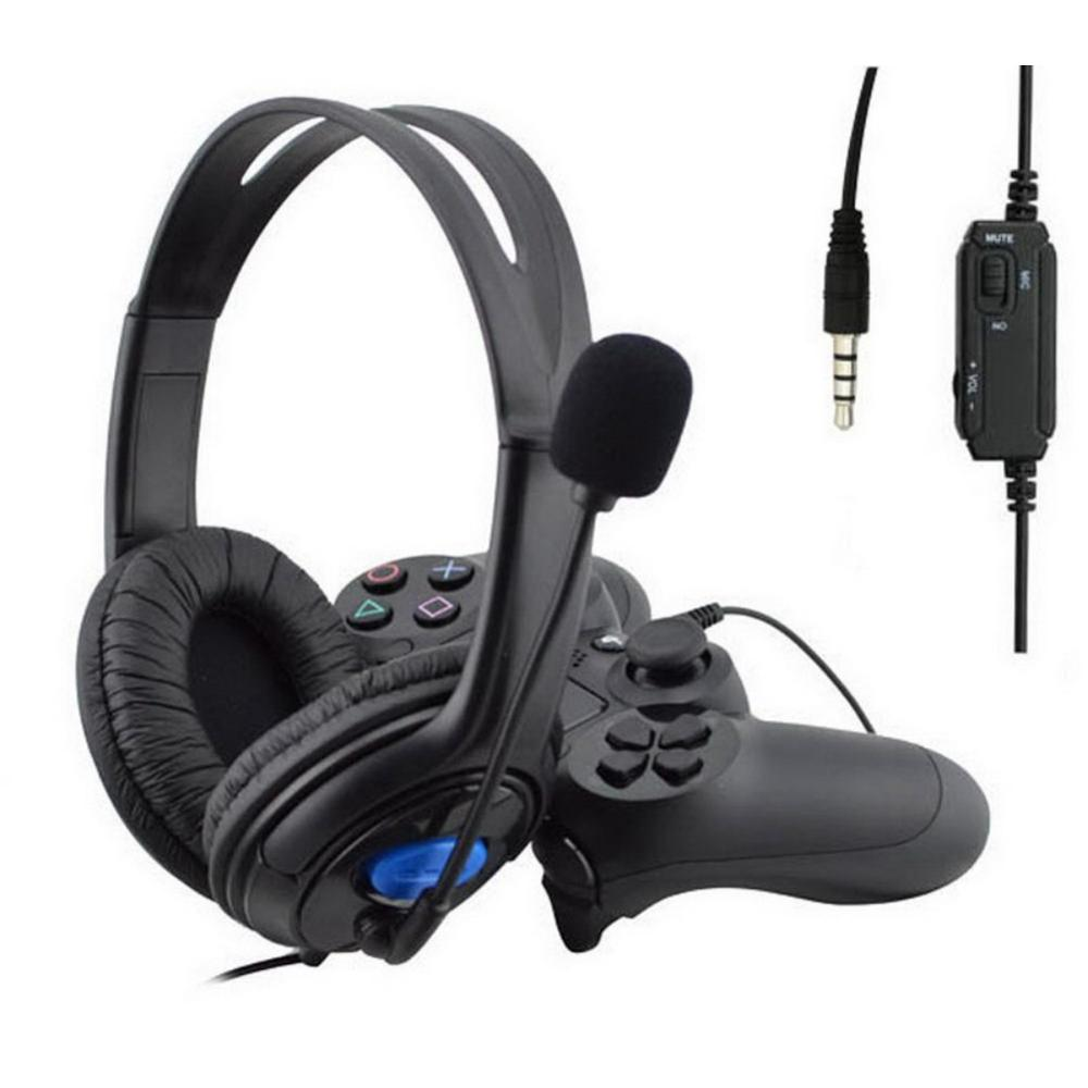 EDAL Gaming Headset For PS4 Wired Headphones With Microphone 3.5mm Deep Bass Earphone With Mic For PS4 Sony PlayStation 4 PC