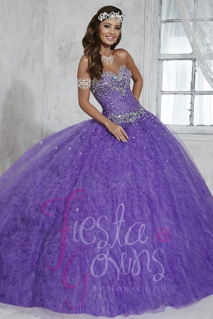 Hot Sale Blue Purple Quinceanera Dress 2017 Ball Gown Beaded