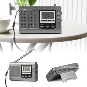 Image 5 - Professional Mini Tragbare Radios FM/MW/SW Empfänger w/ Digital Wecker FM/AM Radio Gute sound Empfänger als Geschenk zu Eltern
