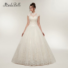 modabelle High Neck Sexy Wedding Dresses Bridal Gown