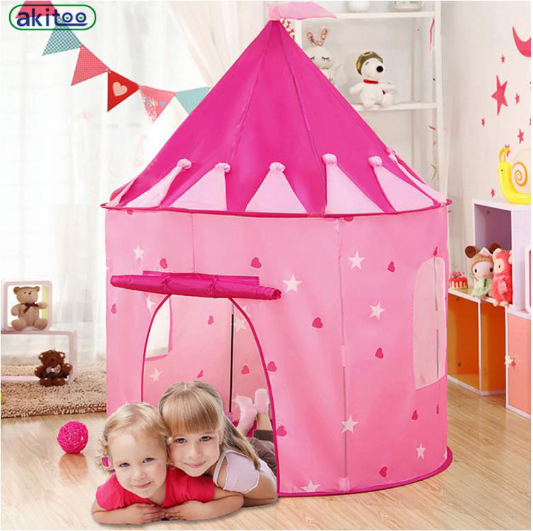 new product b959d bf2d0 US $19.03 32% OFF|New arrival south korea style Princess House Large Indoor  Children Tent Toy Castle Mongolia Bag House Playhouses For Kids gift-in ...