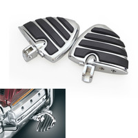 For Honda F6B GL1800 Suzuki Volusia 800 M50 M90 M109R 2001 2013 Motorcycles Chrome Wide Wing Foot Pegs Footrest Footpeg 1 Pair
