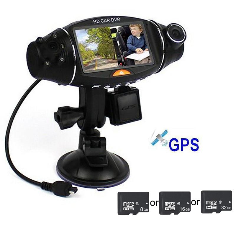 2 7 Inch Car Camera Full HD 1080P Dual Lens Screen 140 Wide Angle Built in