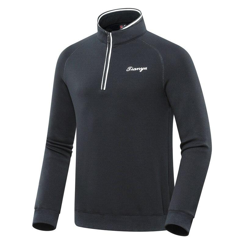 Hommes fermeture éclair col Golf chemise hiver polaire chaud Golf hauts pour hommes respirant confortable doux Sportswear D0655