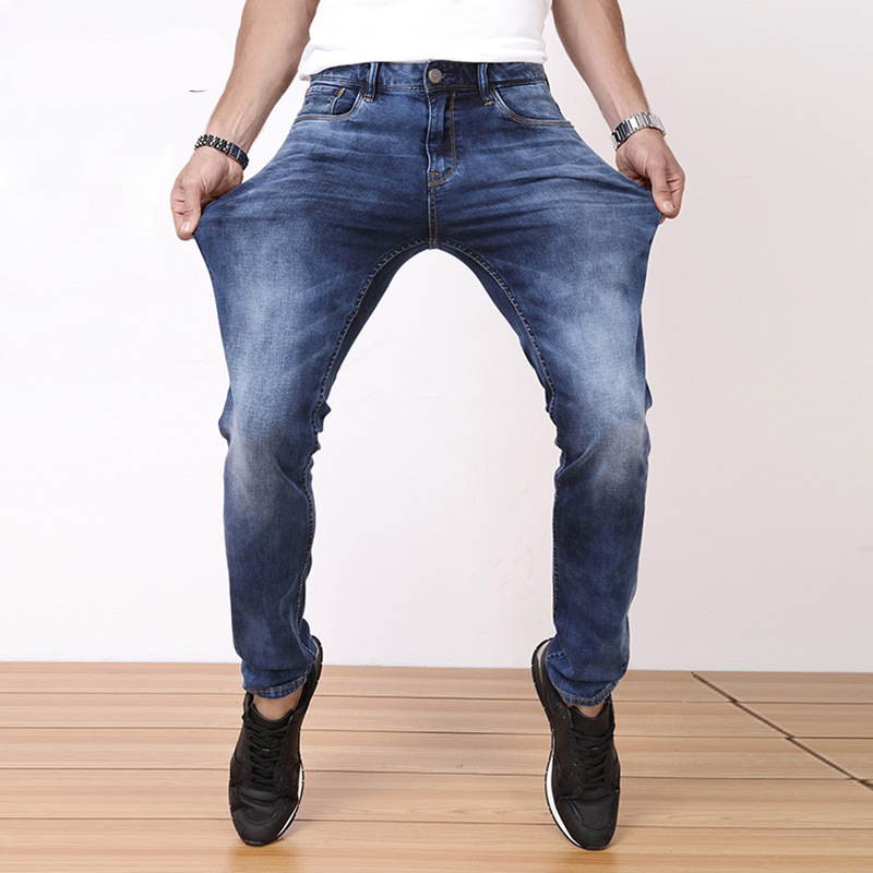 2017 New Arrival Mens Jeans Slim Fit High quality Denim Pants Casual Long Trousers Plus Size