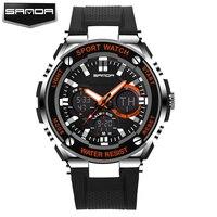 SANDA Men LED Display Digital Watch Sport Watches Relogio Masculino Relojes Hombre Montre Homme Fashion Waterproof
