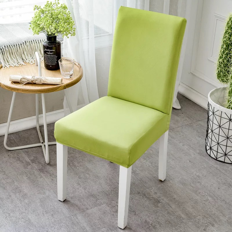 Spandex Solid Dining Room Chair Covers Stretch Elastic Universal Size Garden Outdoor Funiture Seat Covers Modern Home Decorative