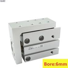 MXH6-15S HLH6 Bore:6mm Stroke:5 10 15 20 25 30 40 50 60mm SMC Type compact slide cylinder цена в Москве и Питере