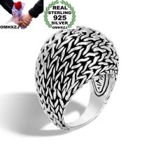 OMHXZJ Wholesale European Fashion Woman Man Party Wedding Gift Silver Black Bird Nest Taiyin Ring RR343