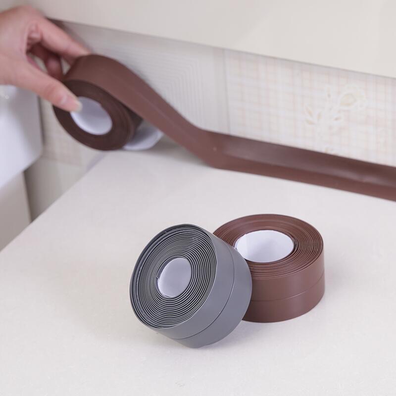 Self adhesive Tape Waterproof Mildewproof Sealing Strip PVC Bathroom Kitchen Adhesive Tape Toilet Wall Corner Line Sink StickerSelf adhesive Tape Waterproof Mildewproof Sealing Strip PVC Bathroom Kitchen Adhesive Tape Toilet Wall Corner Line Sink Sticker
