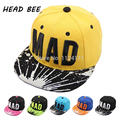 2017 Trend Snapback Bone Child Embroidery MAD Letter Baseball Caps Kid Boys And Girls Flat Hip Hop Cap