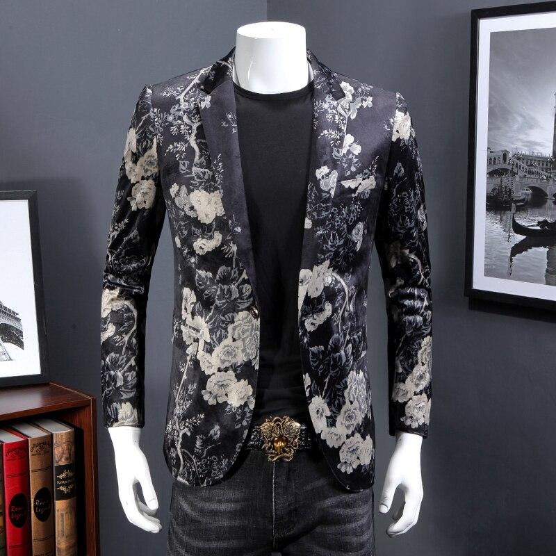 2018 Frühling Herbst Neue Herren Business Kausalen Anzug Blazer/herren Langarm Gedruckt Party Kleid Anzug Blazer Jacken Mantel Der Preis Bleibt Stabil