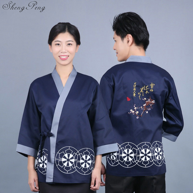 Sushi chef uniforme japonais restaurant uniformes hommes japon sushi vêtements japonais chef veste Q411