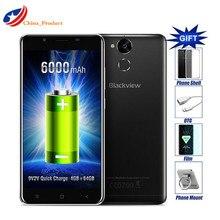 Blackview P2 4 ГБ + 64 ГБ LTE 6000 мАч смартфон 5.5 дюйма FHD Android 6.0 сотовый телефон MT6750T Octa core 13MP + 8MP Камера корабль 24 часа!