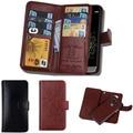 Multifuction teléfono móvil bolsa para lg g5 case magnética 2 en 1 extraíble de cuero wallet case para lg g3 & para lg g4 case 9 tarjeta ranuras