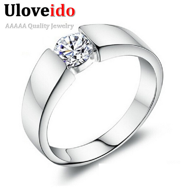uloveido wedding rings for womenmen crystal vintage male ring for men jewellery anel masculino - Wedding Rings For Men And Women