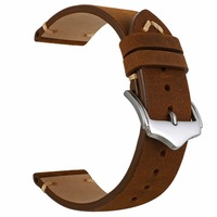 EACHE New Arrival 20mm Black Brown Red Blue High Quality Genuine Leather Watch Band Straps
