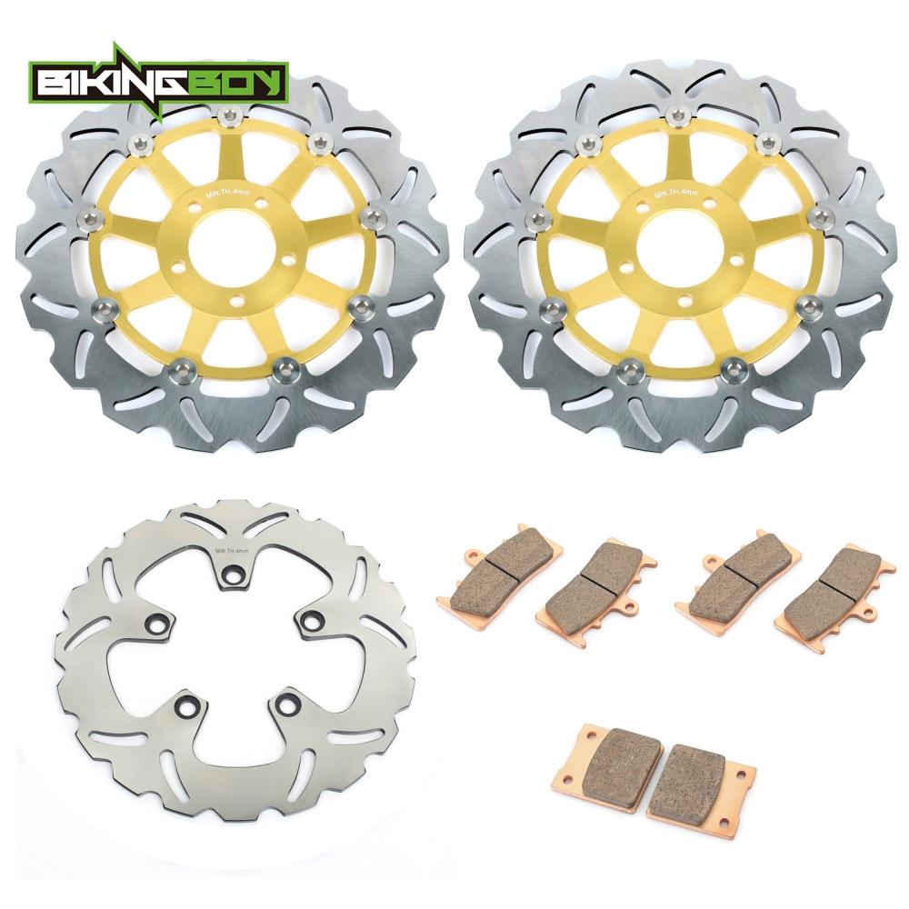 BIKINGBOY Front Brake Discs Rotors Disks Pads for Suzuki