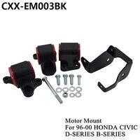 For 1996 2000 HONDA CIVIC D16 B16 B18 B20 Billet Aluminum SWAP MOUNTS EK D SERIES B SERIES CXX EM003BK