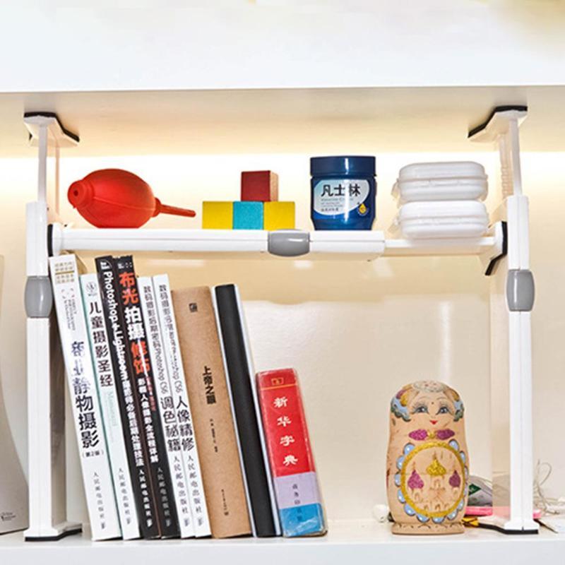 Adjustable Closet Organizer Storage Shelf Wall Mounted Kitchen Rack Holder Space Saving Wardrobe Shelves Cabinet Holders