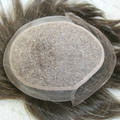 100% Indian Remy Hair Swiss Lace and pu Hair Natural Black Mens Toupee Hair Replacement Systems Silk Base H071