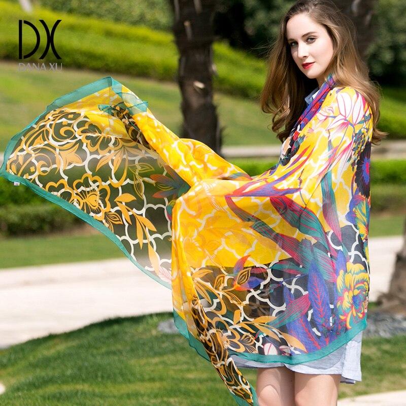 Chiffon Silk Scarf Women Fashion Designer Brand Scarf Winter Shawls And Scarves Sjaal Cachecol Echarpes Foulards Femme Muslim