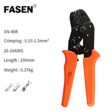 European crimping tool sn-48b pliers 4.8 6.3 non insulated terminal plier crimper crimping tool 0.5-1.5mm2  20-15 AWG pliers set fsc 156b non insulated tabs terminals plier crimper 1 5 2 5 4 6mm2 awg 20 10