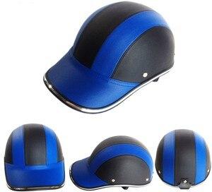 Image 4 - GRATIS SIZE PU Leer Motorfiets Open Half helmen Fiets Scooter Helm Vrouwelijke Moto Casco Baseball Cap gorras de beisbol