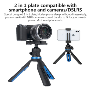 Image 2 - APEXEL 2 in 1 Phone Holder Mount Tripod DSLR Camera Phone Extendable Tripod For Gopro xiaomi iPhone Smartphone