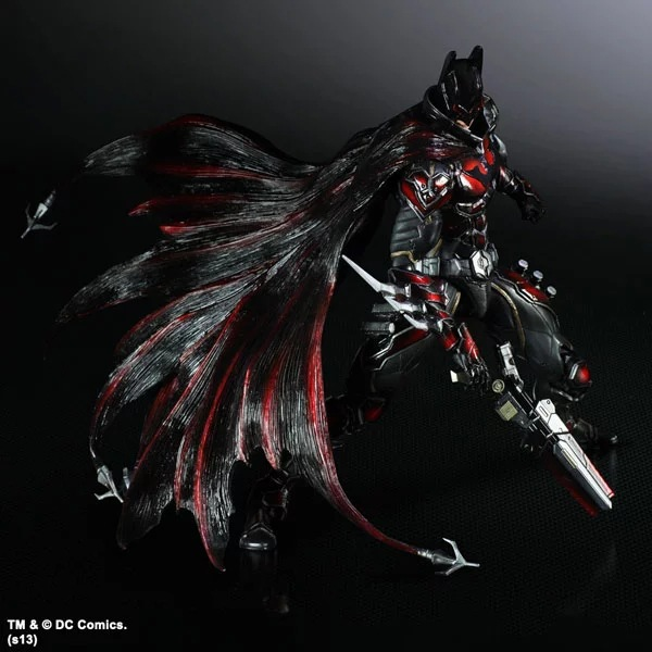 PLAY ARTS 27cm Batman Arkham Knight Special Red Version Action Figure Model Toys