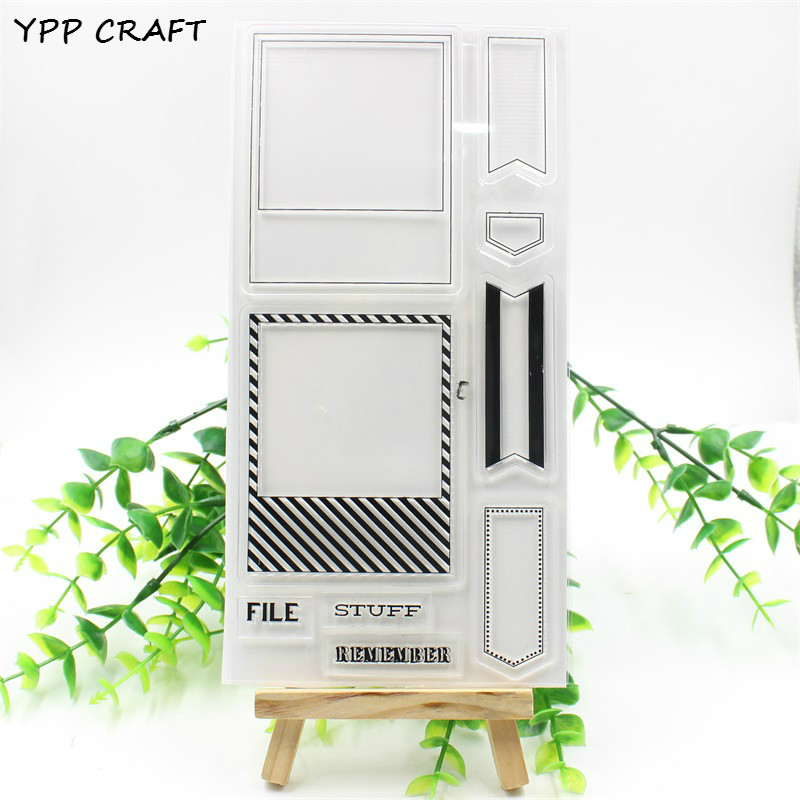 YPP CRAFT 1 Sheet Remember Transparent Clear Silicone Stamps for DIY Scrapbooking/Card Making/Kids Fun Decoration Supplies