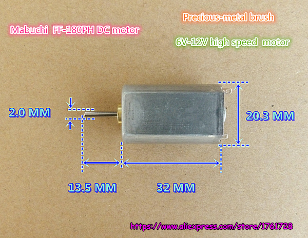 FF-180PH-22100 DC 6V~12V 19500 RPM DC Motor Speed Control DIY Teile XJ