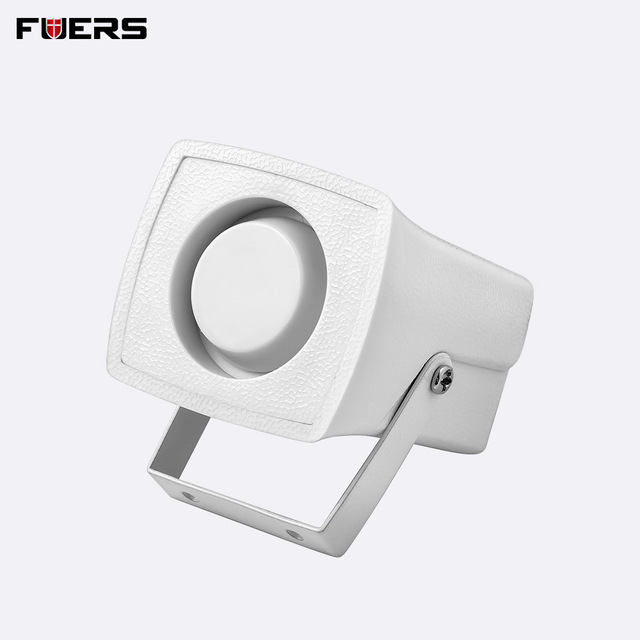 FUERS Wired White Mini Siren For Home Alarm Security System Mini Siren Loudly Sound For Protection Security 120dB Personal Alarm